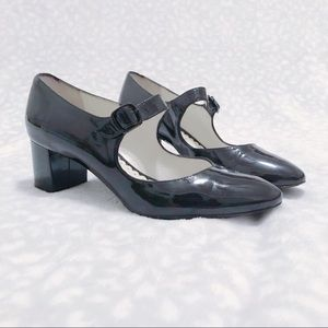 Bettye Muller Heels Harmony Mary Jane Patent Black
